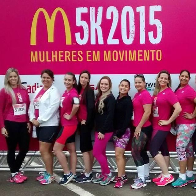 Grupo corrida Academia Feminina Espao Emmel! 5km MAC 2015 espacoemmel